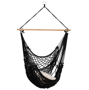 Hængestol Enkelt 'Rope' Black
