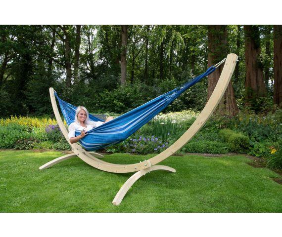 Hængekøje med Dobbelt Stativ 'Wood & Chill' Calm