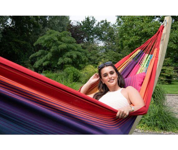 Hængekøje med Familie Stativ 'Wood & Refresh' Rainbow