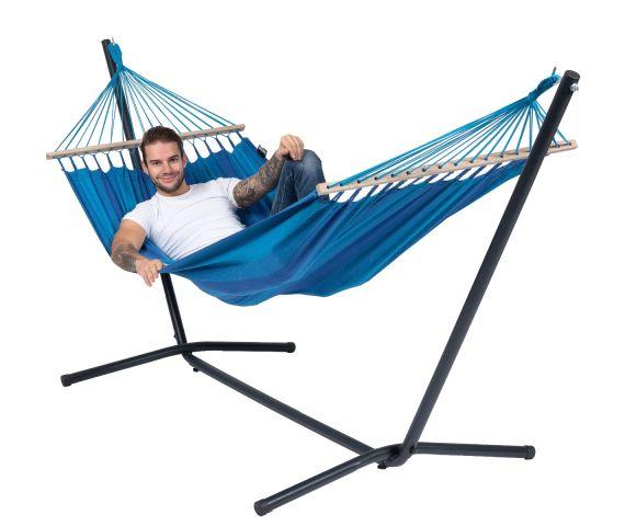 Hængekøje med Enkel Stativ 'Easy & Relax' Blue