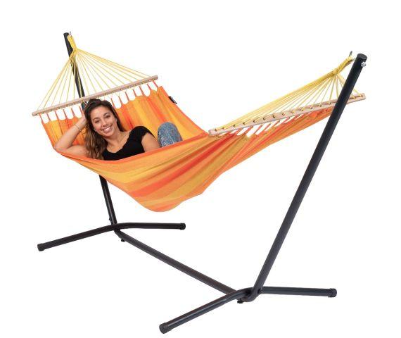 Hængekøje med Enkel Stativ 'Easy & Relax' Orange