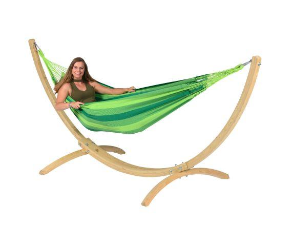 Hængekøje med Enkel Stativ 'Wood & Dream' Green