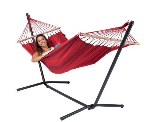Hængekøje med Enkelt Stativ 'Easy & Relax' Red